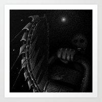 Drawlloween 2015: Gore Art Print