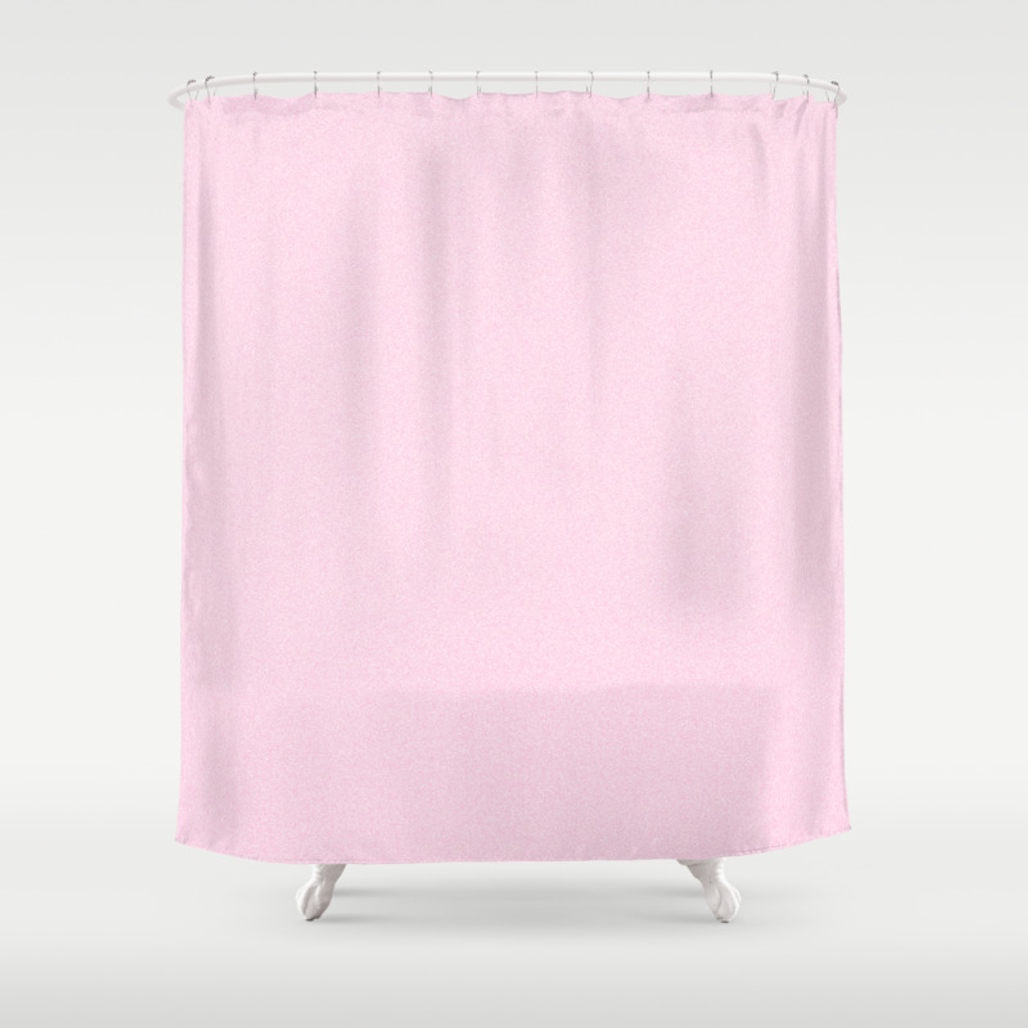 Dense Melange White And Cotton Candy Pink Shower Curtain