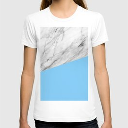 Marble and Blue Color T-shirt