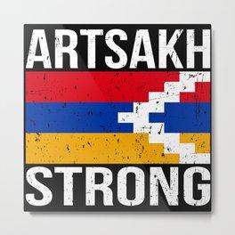 Artsakh Strong - Armenian Flag Gift Metal Print