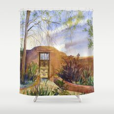 A Southwestern Gate Shower Curtain