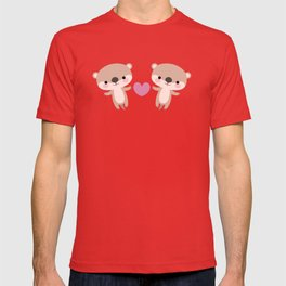 Kawaii otters T-shirt
