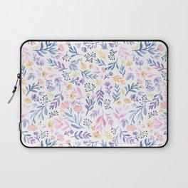 Violet Floral Laptop Sleeve