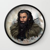 thorin Wall Clocks featuring Thorin Oakenshield by KuroCyou