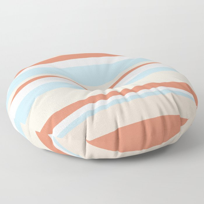 mesa, desert pastel stripes Floor Pillow