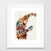 superheros Framed Art Prints featuring quick as lightning by bri.buckley