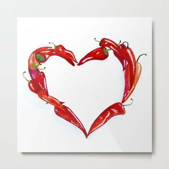 Peppers heart Metal Print