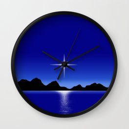 Star Horizon 107 Blue Sky Wall Clock