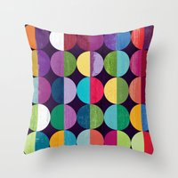 the moon Throw Pillows featuring Moon by Kakel