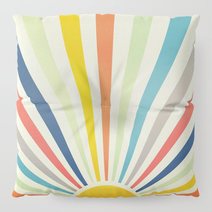 Sun Retro Art III Floor Pillow