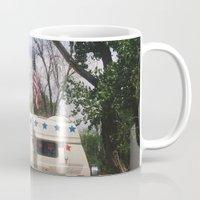 america Mugs featuring America by Lauren Ogard