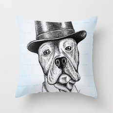 I'm too SASSY for my hat! Vintage Pup. Throw Pillow