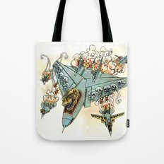Tyrannosquadron Rex! Tote Bag