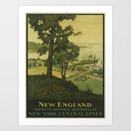 Vintage poster - New England Art Print
