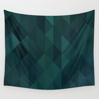 emerald Wall Tapestries featuring Emerald by Brittany C.