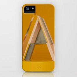 Alphabet A iPhone Case