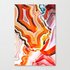 The Vivid Imagination of Nature, Layers of Agate Canvas Print