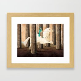 Il cavallo in bianco Framed Art Print