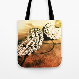 The Angel Has Landed Tote Bag