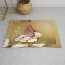 Ringlet brown butterfly Rug