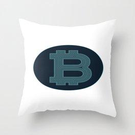 Bitcoin Token Throw Pillow