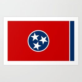 State flag of Tennessee, HQ image Art Print