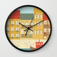 portugal Wall Clocks featuring Portugal by Kakel