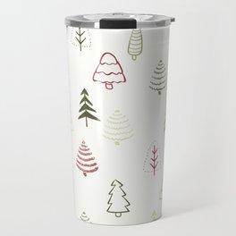 Winter Trees in Snowy Day Travel Mug