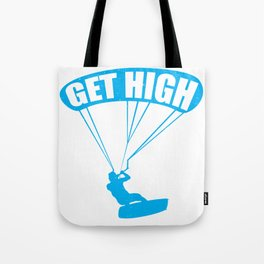 funny kite surfing get high Tote Bag