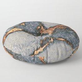 GREY & GOLD GEMSTONE Floor Pillow
