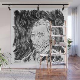 Van Gogh in black Wall Mural