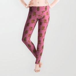 tiger print pink Leggings