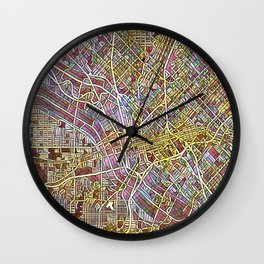 Dallas Color Variation 1 Wall Clock