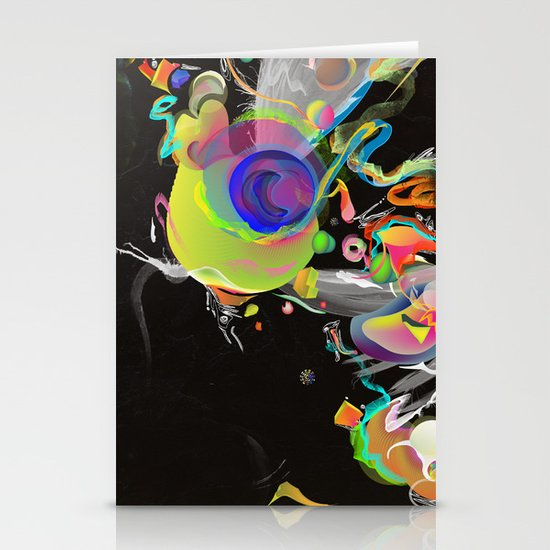 Colliding Nebulas Stationery Cards