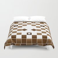 donkey Duvet Covers featuring  Pixel Donkey by HK Chik