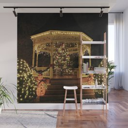 Gazebo Dressed for Christmas Wall Mural