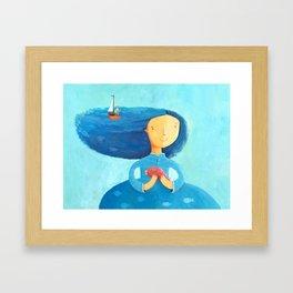 Miss Sea Framed Art Print