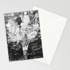 RETRO LACE BOUQUET Black and White Stationery Cards