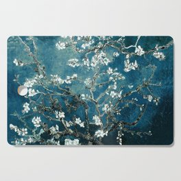 Van Gogh Almond Blossoms : Dark Teal Cutting Board