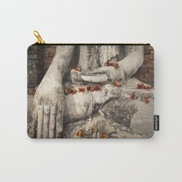 Buddha with flowers Carry-All Pouch