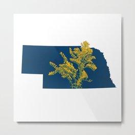 Nebraska Goldenrod Metal Print