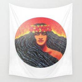 Goddess Pele of Hawaii Wall Tapestry