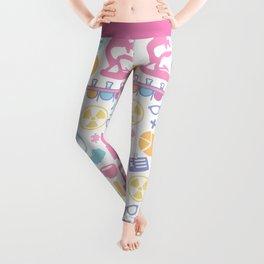 Pastel Science Pattern Leggings