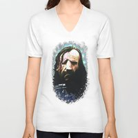 the hound V-neck T-shirts featuring THE HOUND by Chewgowski