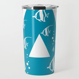 A is for Angelfish - Animal Alphabet Series Travel Mug