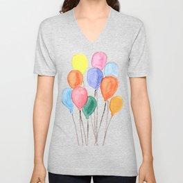 Balloon Doodle Unisex V-Neck