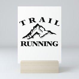Trail Running Mini Art Print