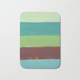 Abstract Painting - Horizontal Stripes Bath Mat