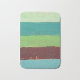 Abstract Painting - Horizontal Stripes Bath Mat
