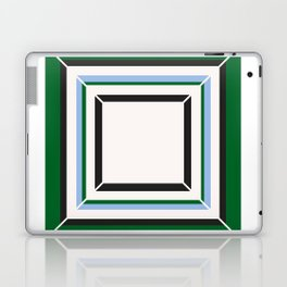 Green Blue And White Tile Laptop & iPad Skin